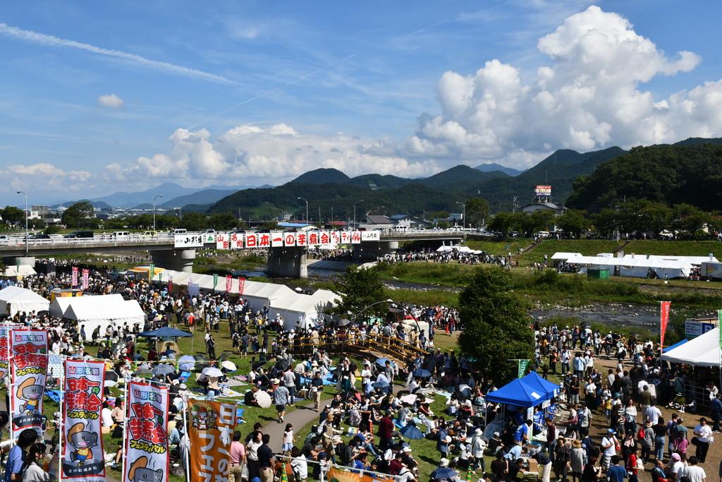 日本一の芋煮会フェスティバル会場